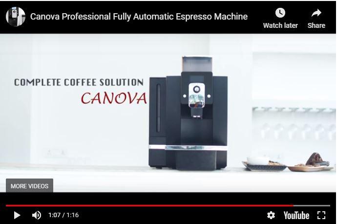 Canova fully automatic coffee machine