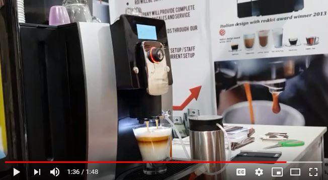 latte on canova coffee machine
