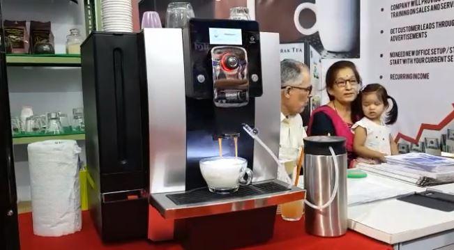 cappuccino on canova coffee machine